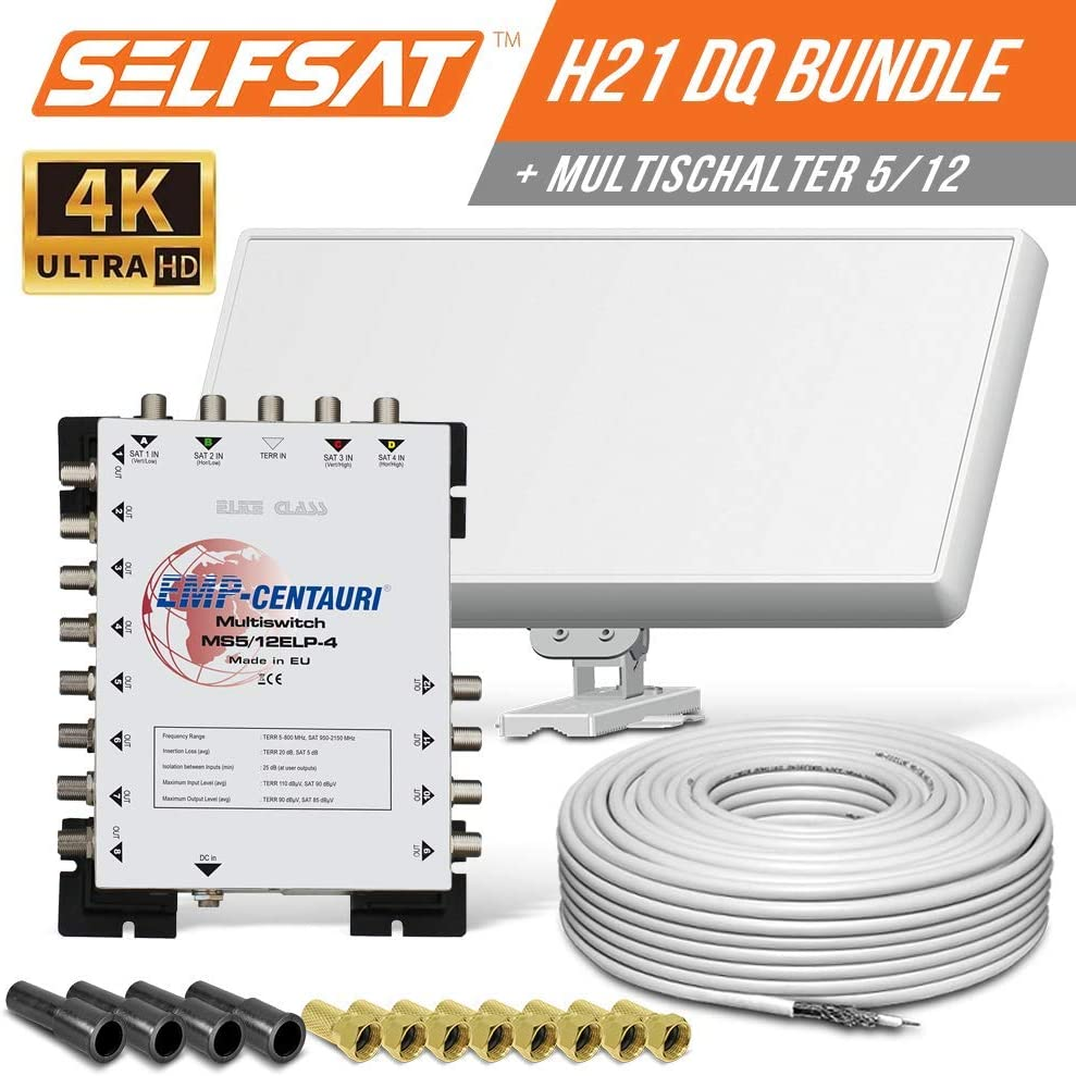 Selfsat H21DQ 16 - Antena plana para satélite (satélite ...