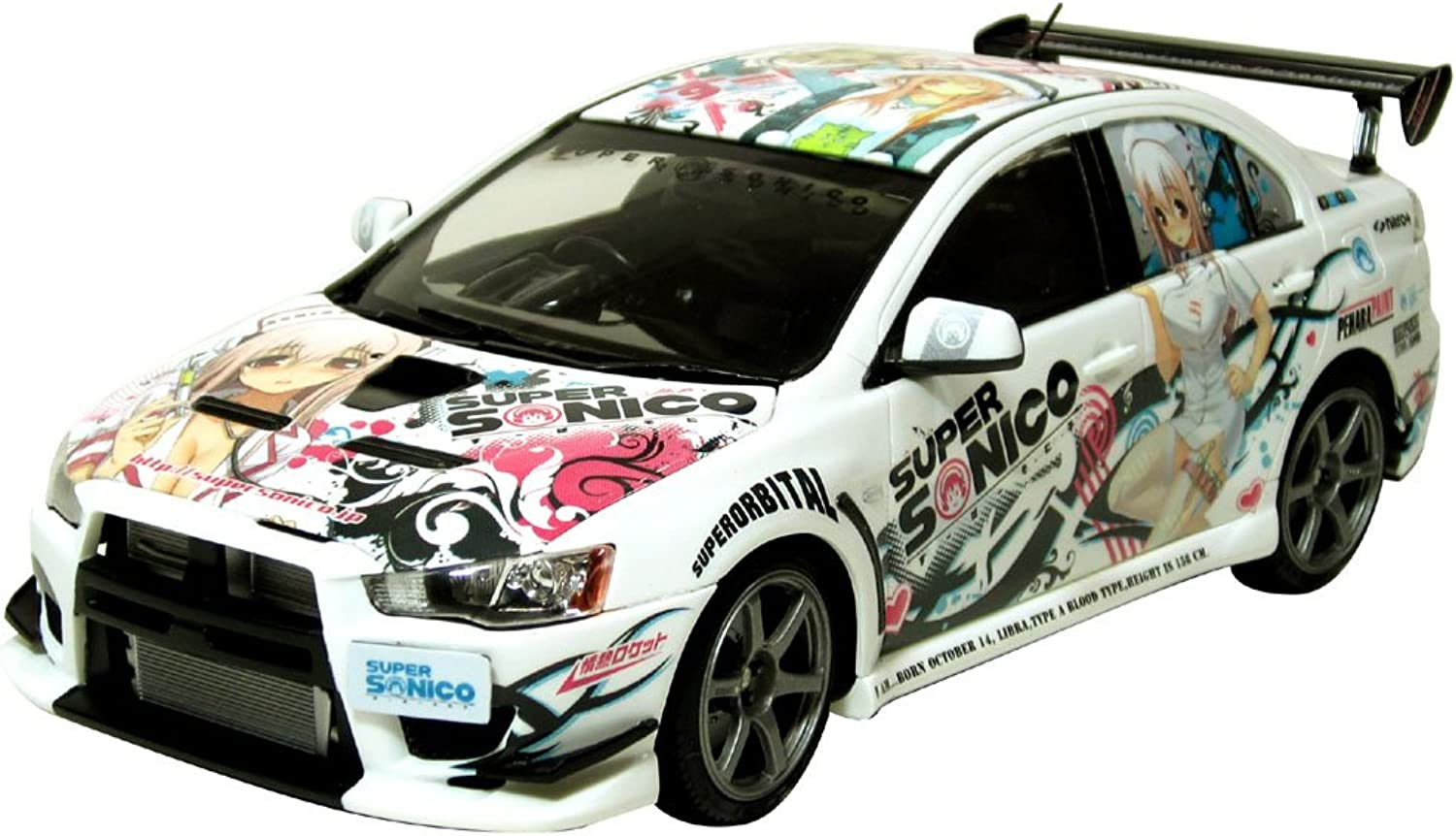 Super Sonico CWest Lancer Evolution X (Street Ver.) (Model Car) 1 24