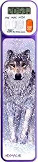 Mark-My-Time 3D Wolf Digital Bookmark and Reading Timer - Purple