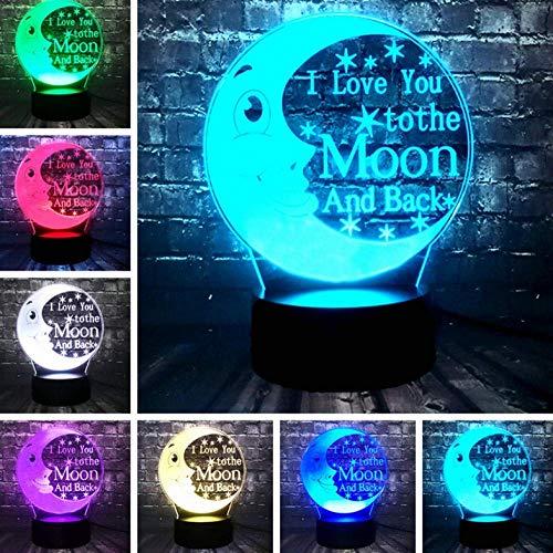 Nachtlampje cartoon decor LED Ik hou van je aan de maan en terug sprookjeskamer baby slaap stemming tafel nachtlampje vriend kinderen kerstcadeau