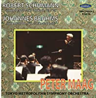 Schumann Symphony No.4. Brahms Symphony No.1. (Tokyo Metropolitan Symphony Orchestra/ Peter Maag. by VARIOUS ARTISTS