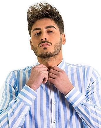 DIVARO - Camisa Rayas Anchas - Disponible EN Color Azul ...