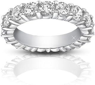 Madina Jewelry 4.00 ct Ladies Round Cut Diamond Eternity Wedding Band Ring in Platinum