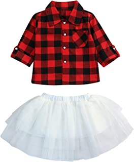 Infant Baby Girls Christmas Dress Merry Christmas Red Plaid Tulle Lace Tutu Princess Dresses Xmas Outfit