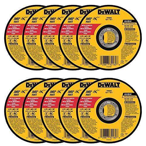 DEWALT DW8062 4-1/2' x .045 x 7/8' Metal Cut-Off Wheel (100pk)