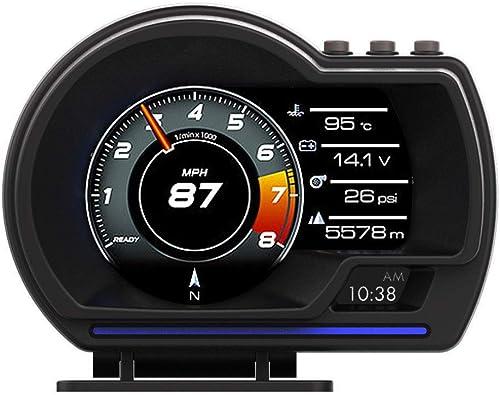 lowest Mallofusa Car HUD Display, AP6 OBD2 online sale & GPS Smart Gauge HUD HD Head Up Display Adjustable Bracket, Speed KM/H RPM Water Temperature Voltage Altitude Clock Car Digital Speedometer Work discount for All Vehicles outlet sale