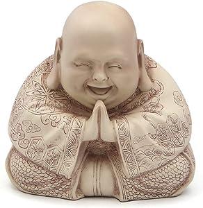 Majestic Praying Happy Buddha Statue (Stone)