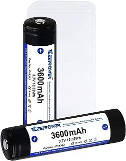 【国産セル】 KEEPPOWER 3600mAh 保護回路付 リチウムイオンバッテリー (ケース付属) (2本組)