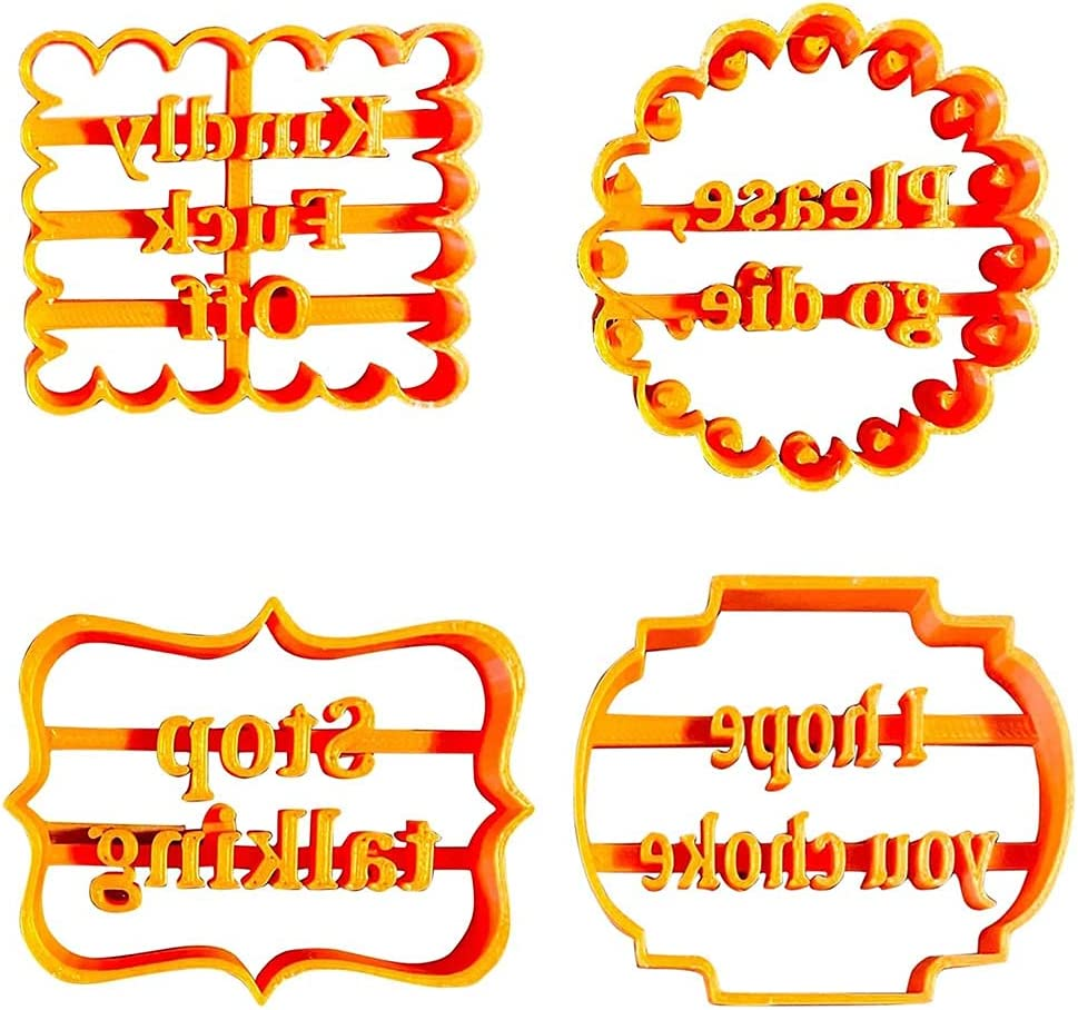 FUTAIPHY Cookie Moulds Good New popularity Wishes Cutters Baking Fo SALENEW very popular for