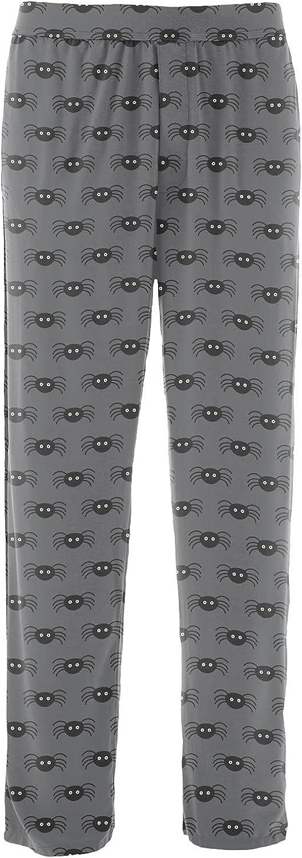 KICKEE Men's Halloween Celebrations Pajama Pants, Ultra Soft Bamboo Pajamas for Men, Men's Sleepwear and Loungewears (Stone Spiders - 3XL)