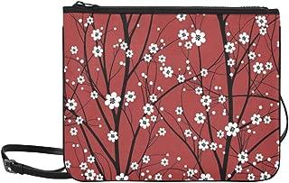 Japan Japanese Cherry Blossom Sakura Tree Pattern Custom High-grade Nylon Slim Clutch Bag Cross-body Bag Shoulder Bag
