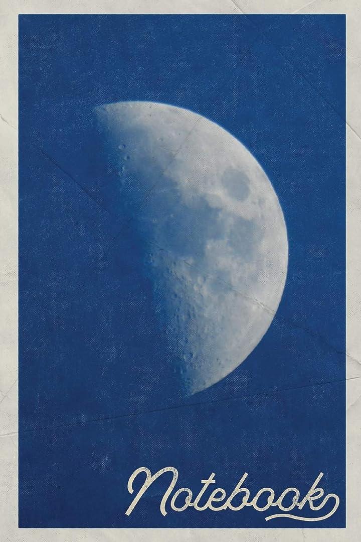 カジュアル配管工ディスクNotebook: Moon surface features Practical Composition Book Journal Diary for Men, Women, Teen & Kids Vintage Retro Design for space articles for students