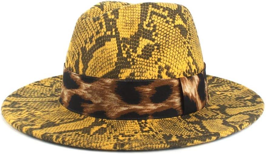 LHZUS Hats Wool Fedora Hat for Women Autumn Winter Lady Jazz Hat Church Hat with Wide Brim Jazz Hat Cloth Church Cap Size 56-58CM (Color : 5, Size : 56-58cm)