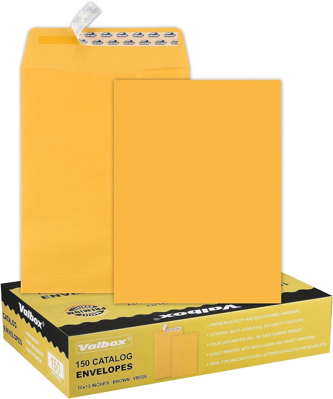ValBox 10x13 Self Seal Catalog Envelopes Kraft Translated L Sale Packs 150 Brown