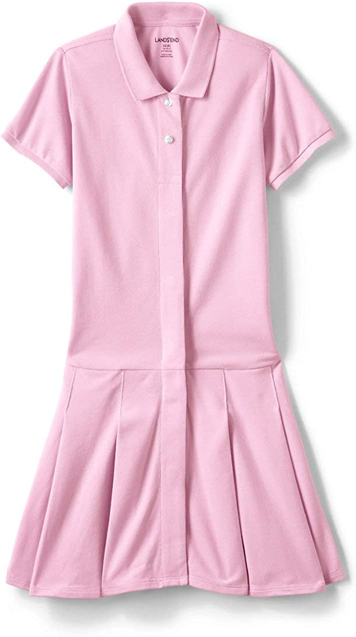 Lands' End Girls Adaptive Mesh Polo Dress