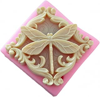 Dragonfly Soap Mold - MoldFun Dragonfly Silicone Mold for Handmade Soaps, Lotion Bars, Bath Bombs, Wax, Crayon, Polymer Clay, Plaster of Paris