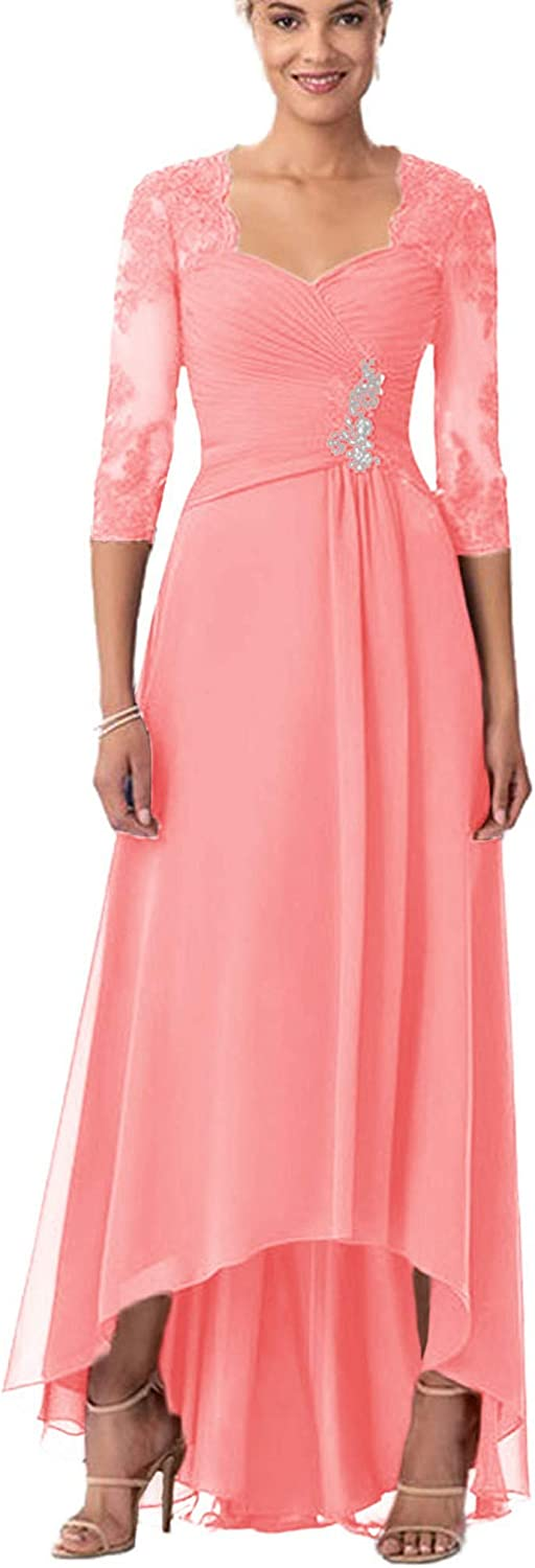 Mother of The Bride Dresses with Jacket Chiffon Mothers Dress Lace Long Evening Party Gowns Formal