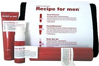 Recipe Three Way Facial Skin Care Set for Men, White