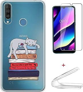 HYMY fodral + skärmskydd för Wiko View 3 - Transparent Cute Fashion Clear TPU Mjuk Silikon Protection Gel Fashion Skin bac...