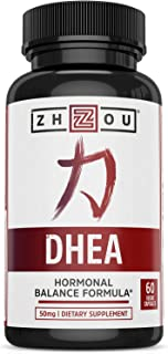 Zhou DHEA 50 mg | Hormonal Balance Formula for Women & Men | Healthy Aging | Non-GMO | 60 Veggie Capsules