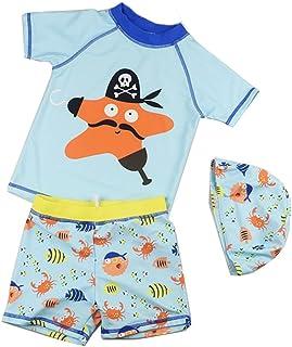 男の子の水着 速乾性の泳ぐ幹 スプリットスーツ 子供用の水着 ボーイズビーチ水着 水着水着 (サイズ : M)