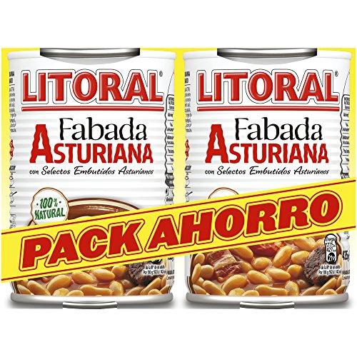 LITORAL Conserva Fabada Asturiana - Paquete de 6x2 latas de