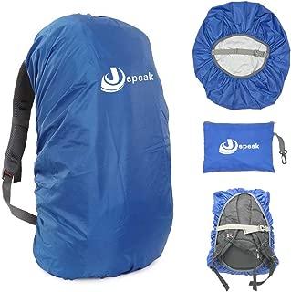 Jepeak Waterproof Backpack Rain Cover 25L-45L Daypack Rainproof Dustproof Protector Raincover (Elastic Adjustable) for Hiking Camping Traveling Climbing Cycling