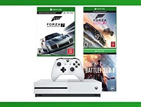 Xbox One S 500 GB Battlefield 1 Console + Forza Horizon 3 + Forza Motorsport 7 + WWE 2K16 Bundle ( 4 - Items )