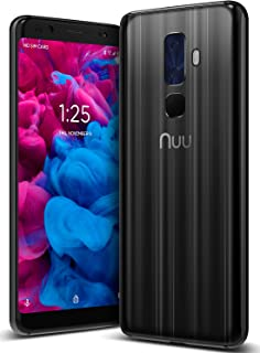 "NUU Mobile G3 Plus Unlocked Cell Phone 64GB + 4GB RAM 4000 mAh Battery - 5.7"" Android 8.1 Oreo Smartphone - Onyx Black"
