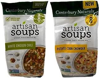 Canterbury Naturals Non-GMO Artisan Soup Mix 2 Flavor Variety Bundle, (1) each: White Chicken Chili, and (1) Potato Corn Chowder (7.5-10.4 Ounces)