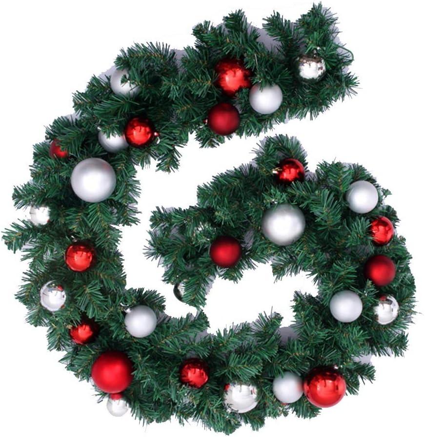 Christmas Wreath Fir Pine service Decoration 2 Branches 2021 model Ball