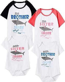 Matching Brother Sister Kids T-Shirts Shark Doo Doo Bodysuit Outfits