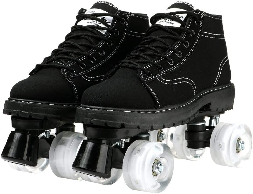 Max 69% OFF Unisex Roller Skates Canvas High-Top Shoes Selling Ro Double-Row Classic