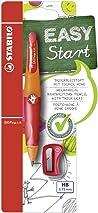 Handwriting Pencil - STABILO EASYergo 3.15 Right Handed Orange/Red + Sharpener