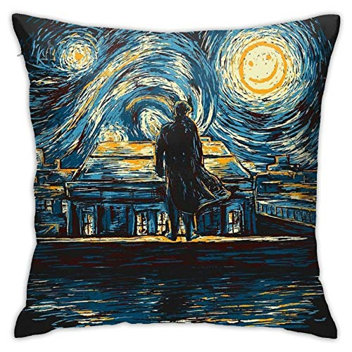 Starry Fall Sherlock Bedroom Couch Sofa Throw Pillow Covers Home Decorative Square Pillow Case 18x18 Inch