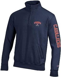 NCAA Mens Quarter Zip Sweatshirt Arm Team
