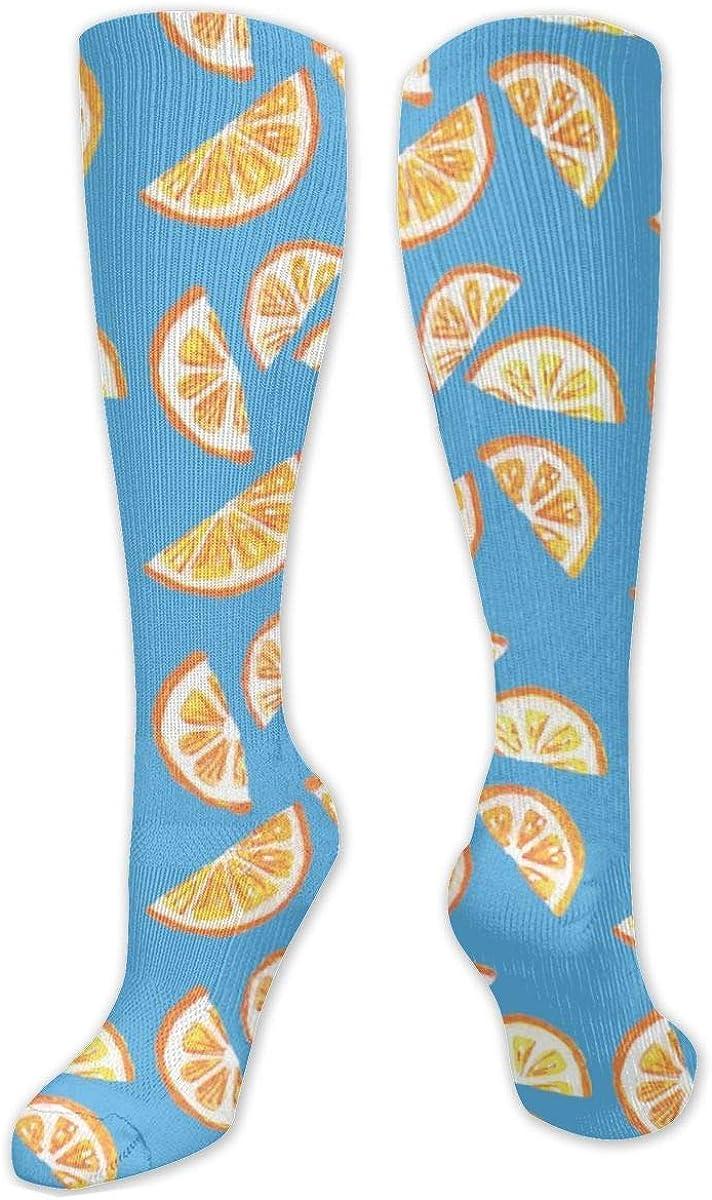 Lemon Slices Knee High Socks Leg Warmer Dresses Long Boot Stockings For Womens Cosplay Daily Wear