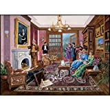 Bits and Pieces - 1000 Piece Murder Mystery Puzzle - Murder at Bedford Manor by Artist Gene Dieckhoner - Solve The Mystery - 1000 pc Jigsaw