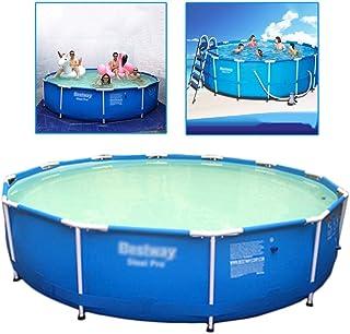 Piscinas Casa niño o Adulto Soporte al Aire Libre for niños Redonda Gruesa de los niños de Gran tamaño (Color : Blue, Size : 366 * 76cm)
