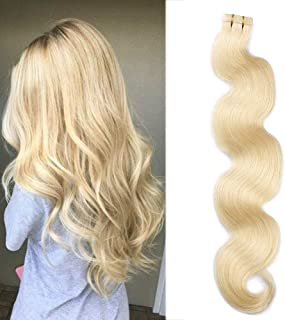 613 Blonde Body Wave Tape in Hair Extensions 18