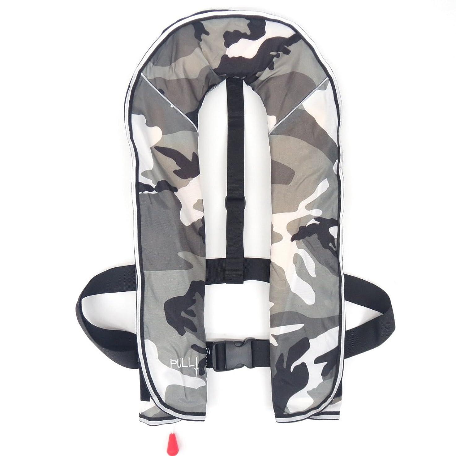 小麦ルネッサンス洋服エイソン ライフジャケット 自動膨張式 ベスト型 150kg対応 命を守る 救命胴衣