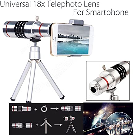 Aluminum 12x or 18x iPhone Telephoto Lens For Smartphone Lens Cell Mobile Phone Lens Optical Telescope