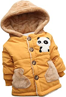 Baby Girls Boys Lovely Cartoon Panda Hooded Coat,Suitable for 0-4 Years Old,Winter Warm Thick Cloak Tops