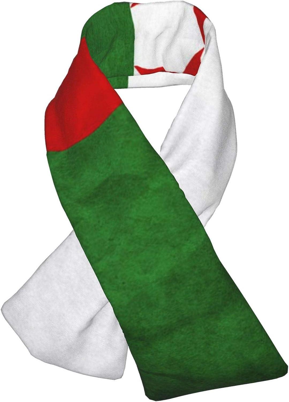 Winter Scarfs Vintage Algeria Flag Scarves Wraps Neck Warmer Flannel Winter Cross Tie Scarves