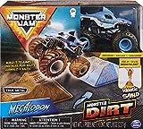 Monster Jam, Megalodon Monster Dirt Starter Set, Featuring 8oz of Monster Dirt and Official 1:64 Scale Die-Cast Monster Jam Truck
