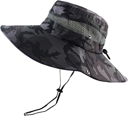 5f3a928f16a579 CAMOLAND Breathable Wide Brim Boonie Hat Outdoor UPF 50+ Sun Protection  Mesh Safari Cap for