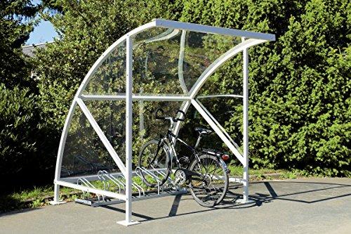Fahrradüberdachung, Fahrradunterstand mit Bogendach