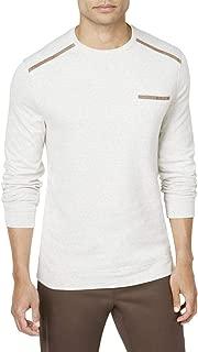 Tasso Elba Men's Pocket Sweatshirt with Faux-Suede Trim