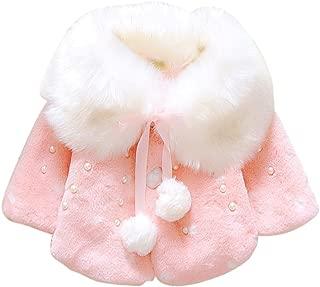 RuiyouQQ Baby M/ädchen Kapuzen Mantel Herbst Winter Jacke mit Kapuze Kleinkinder Warm Kleidung