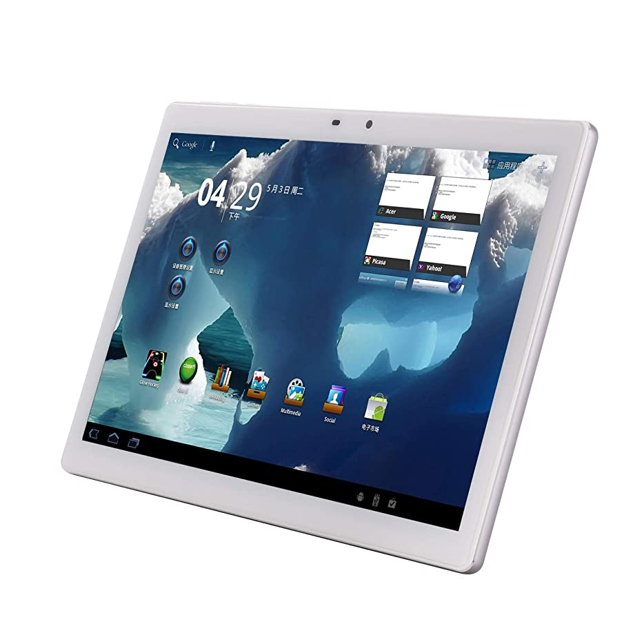 4G LTE 10 inches Tablet Phone 10 core Tablet Deca-Core Android 8.0 1920x1200 IPS Memory 6GB ROM 64GB 4G Double SIM Card Telephone Slice WiFi GPS Electronic 9 4G Network 10 (Silver)